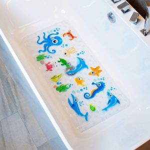 BEEHOMEE Bath Mats for Tub Kids